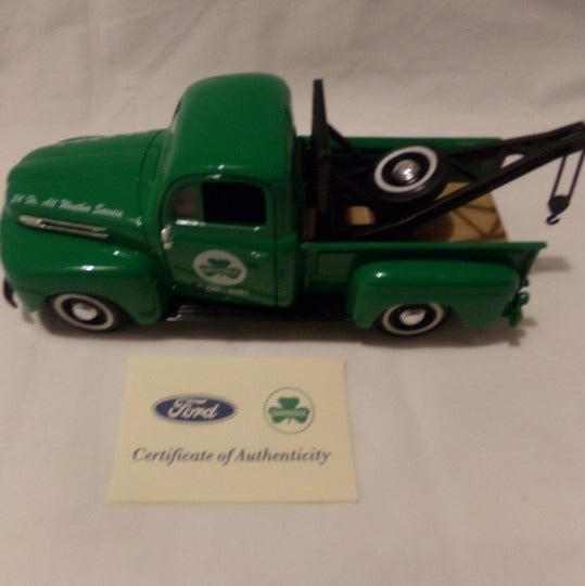 shamrock oil 1940 ford tow truck diecast
