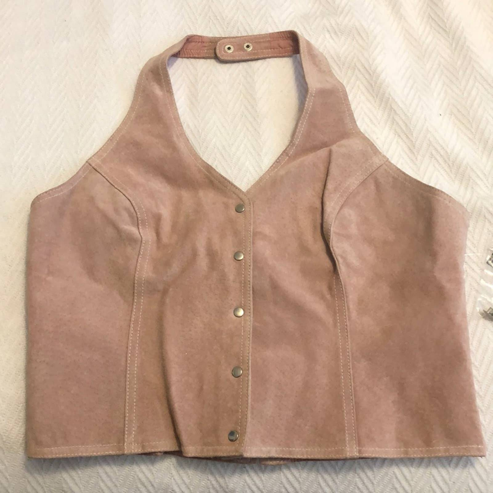 Wilsons Leather pink button up vest