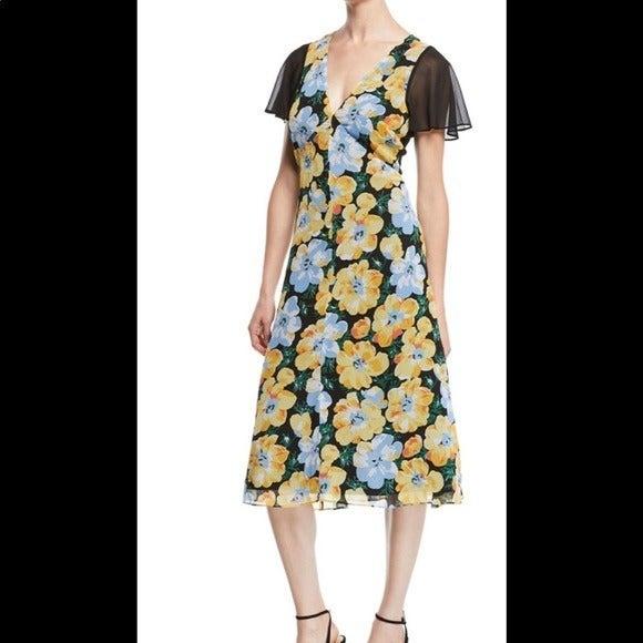 New Club Monaco Floral Coran Dress women's size 8