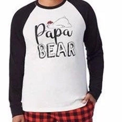 Papa Bear 2 piece pajama set