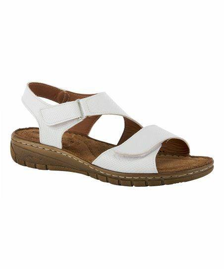 Flexus White Gatica Sandals Women 8.5 M
