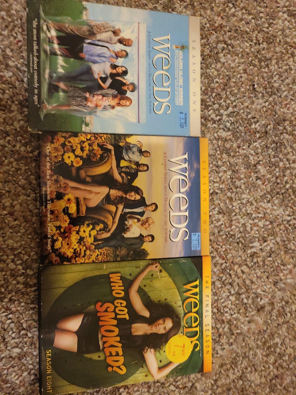 DVD weeds seasons 1 2 8