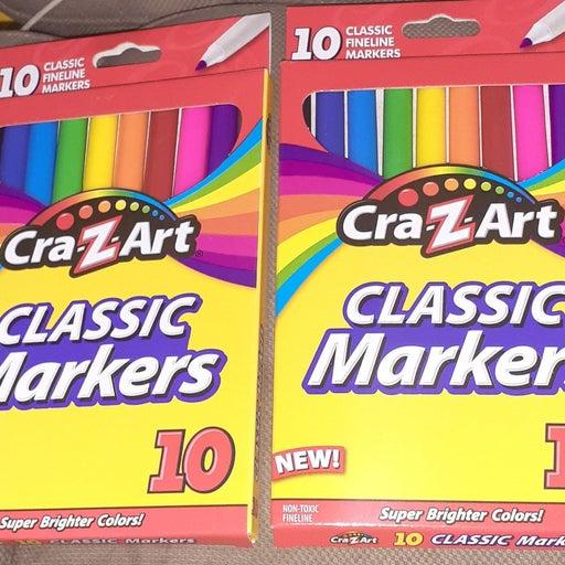 Craz Art 2 pack Markers 10pc New