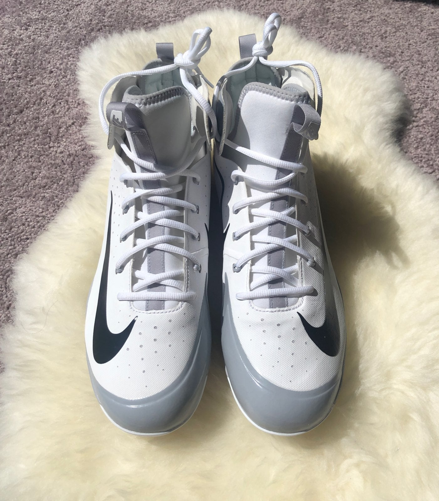 Nike Alpha Hurache White Baseball Cleats