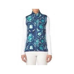 NWT Adidas Navy Print Fleece Vest M