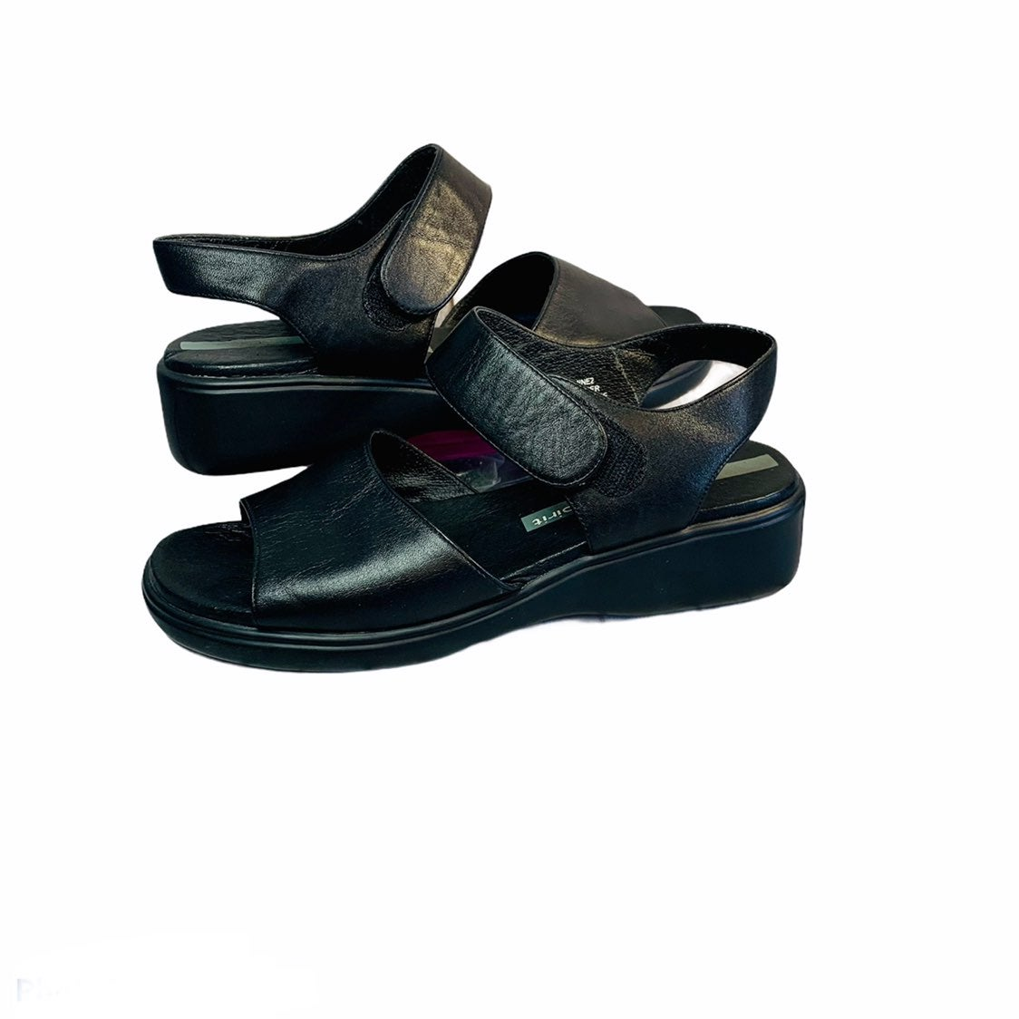 Easy Spirit Black Leather Sandals Size 7