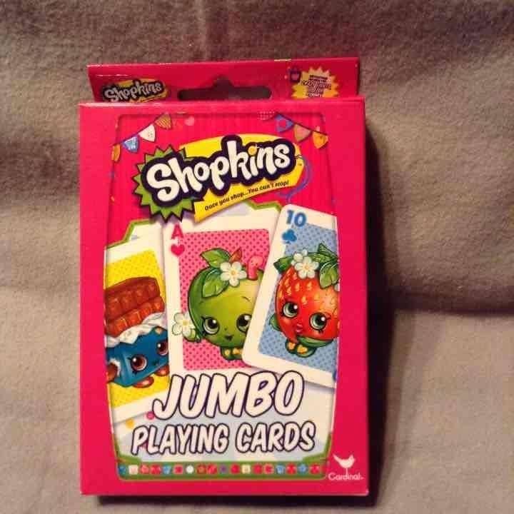 Jumbo Playing Cards - Shopkins