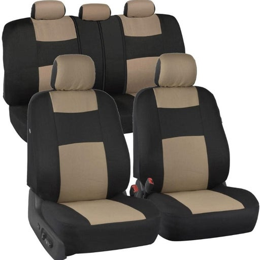 PolyPro Car Seat Covers, Full Set Beige