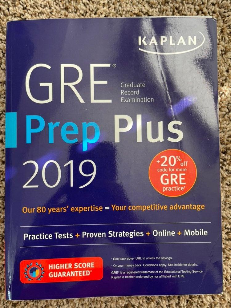 2019 Kaplan GRE Prep Book