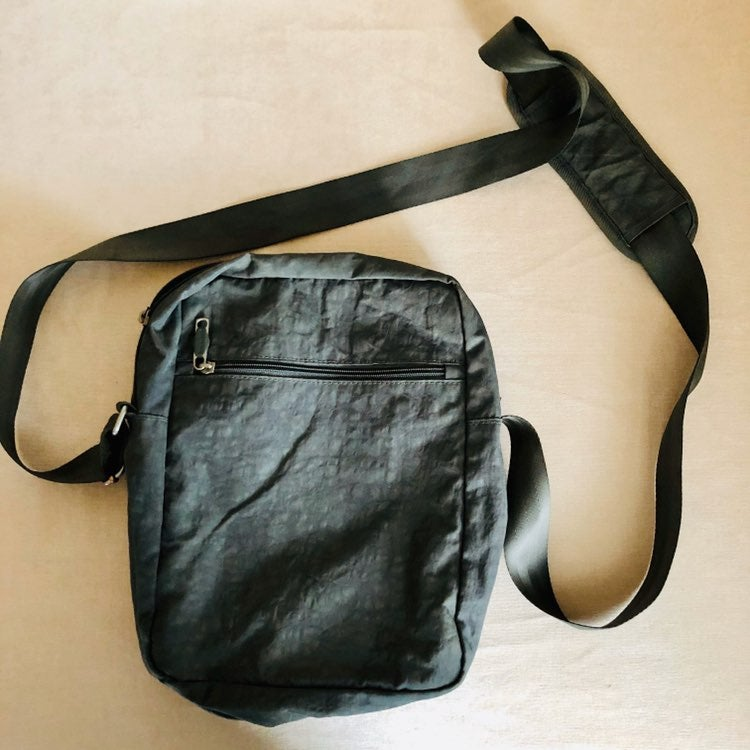Brookstone Grey Messenger/Crossbody Bag