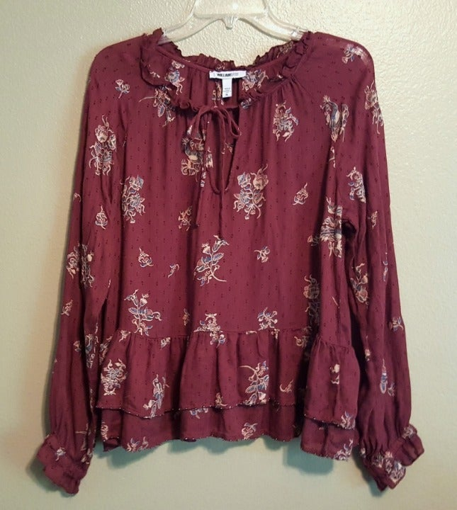 WILLIAM RAST Boho Peasant Top - Size XL