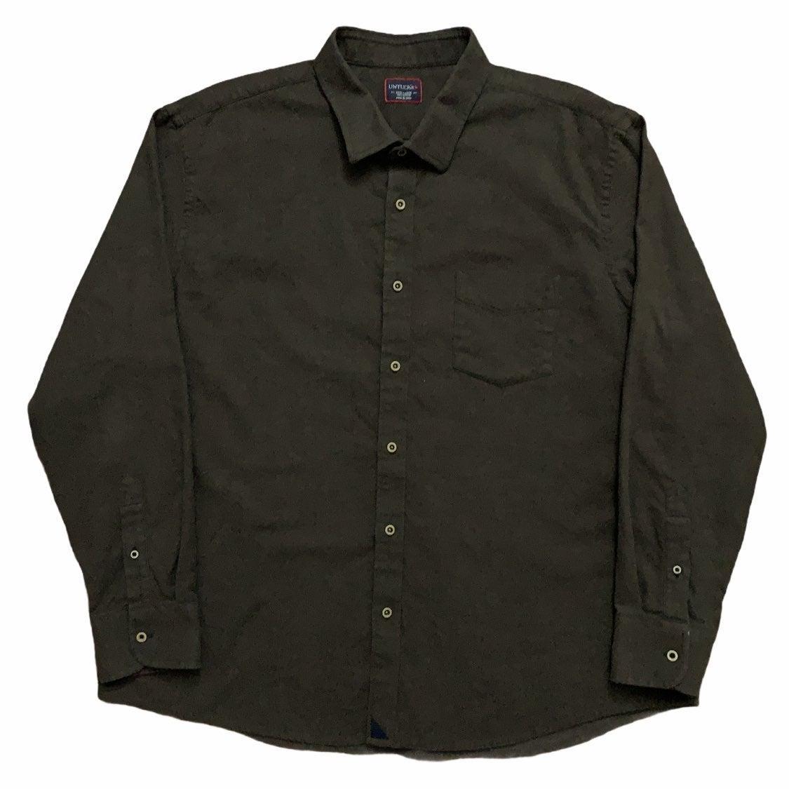 Untuckit Flannel Shirt Brown 3XL