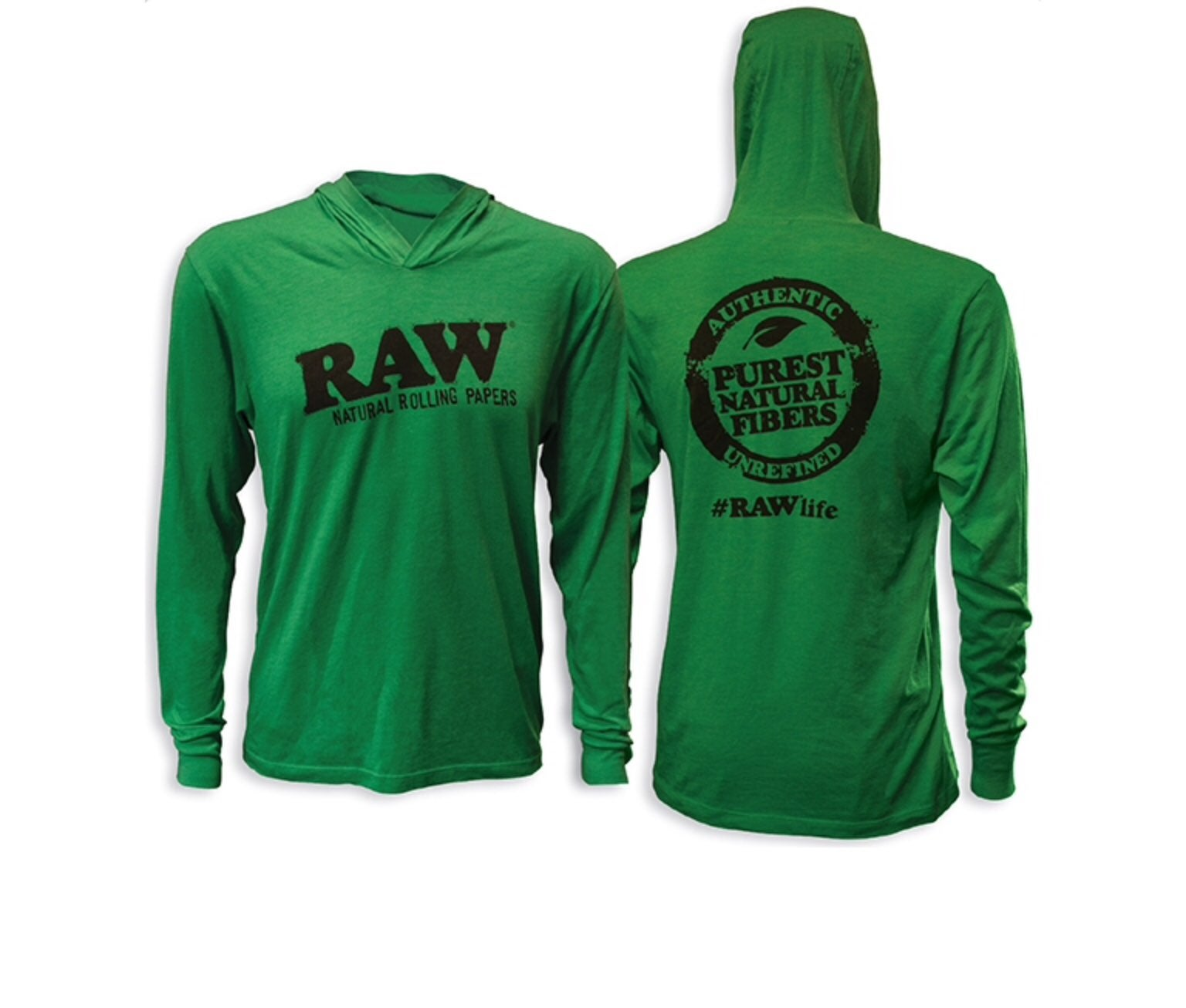 Authentic RAW Envy Green Hoodie-Large