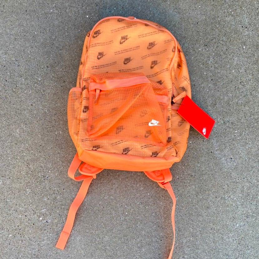 Orange Nike Backpack