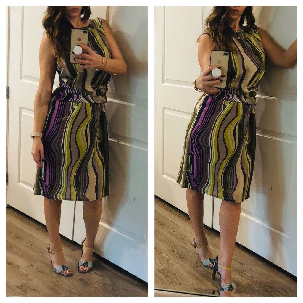Hugo Boss Cocktail Silk Dress/NWOT/Sz-8