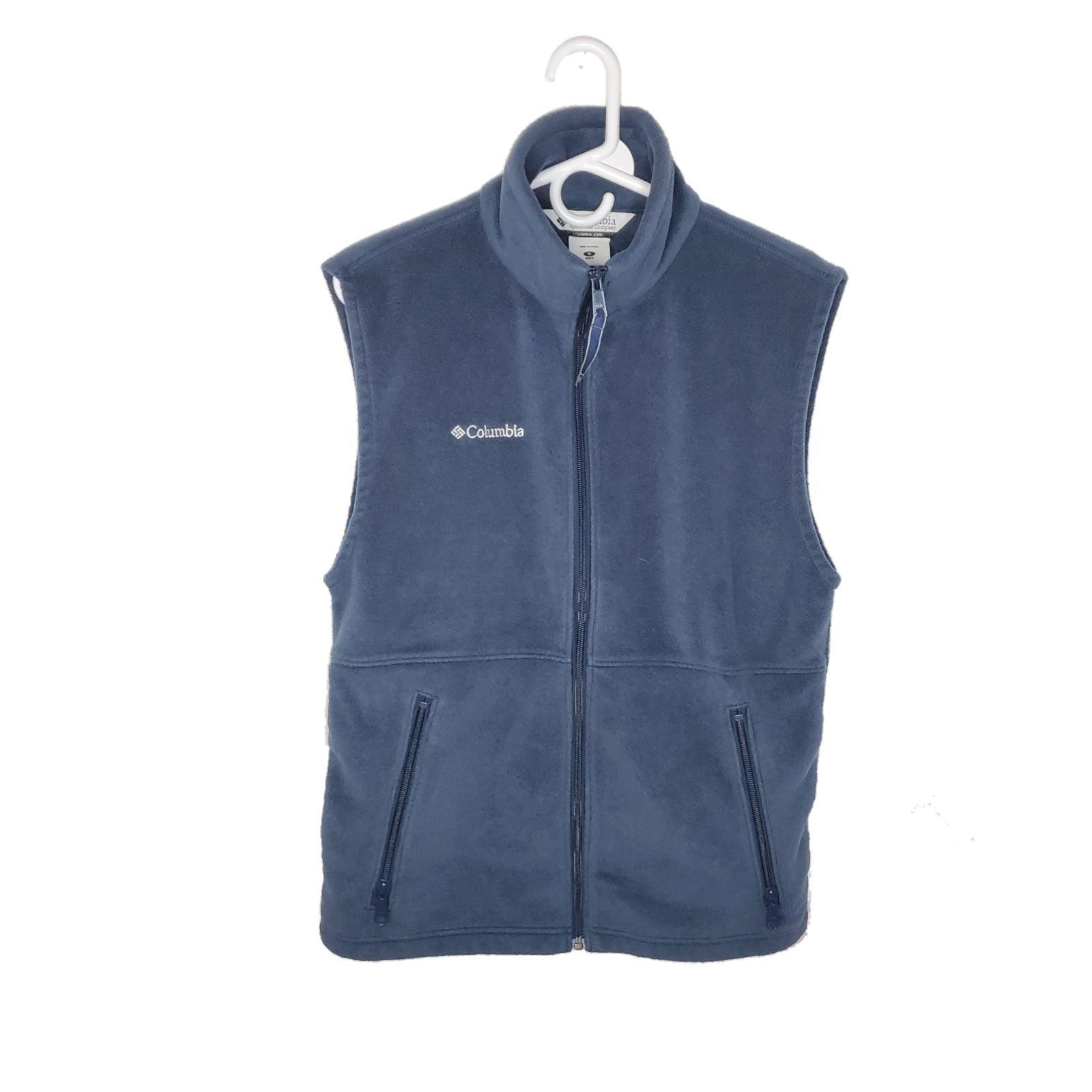 Navy blue Columbia fleece full zip vest