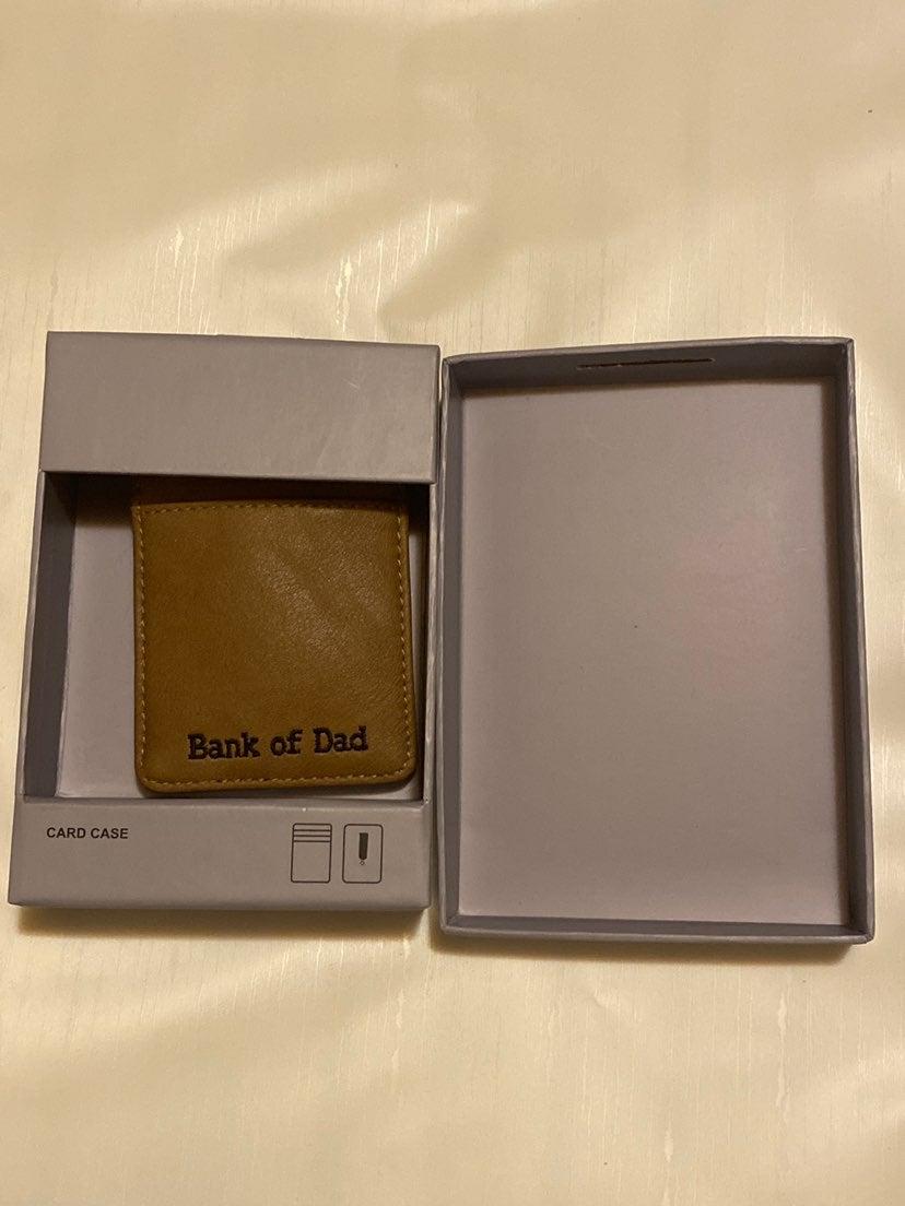 Bank of dad wallet card case