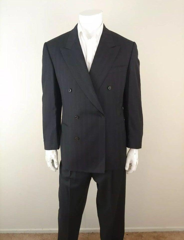 Belvest Black Wool Jacket & Pants Suit