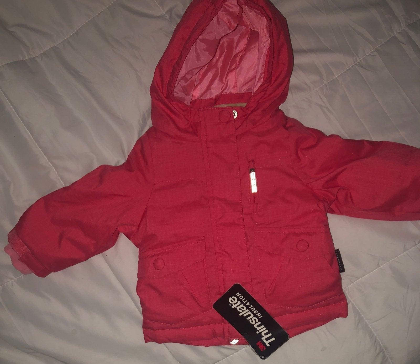 Girls Coat 12m- Pink