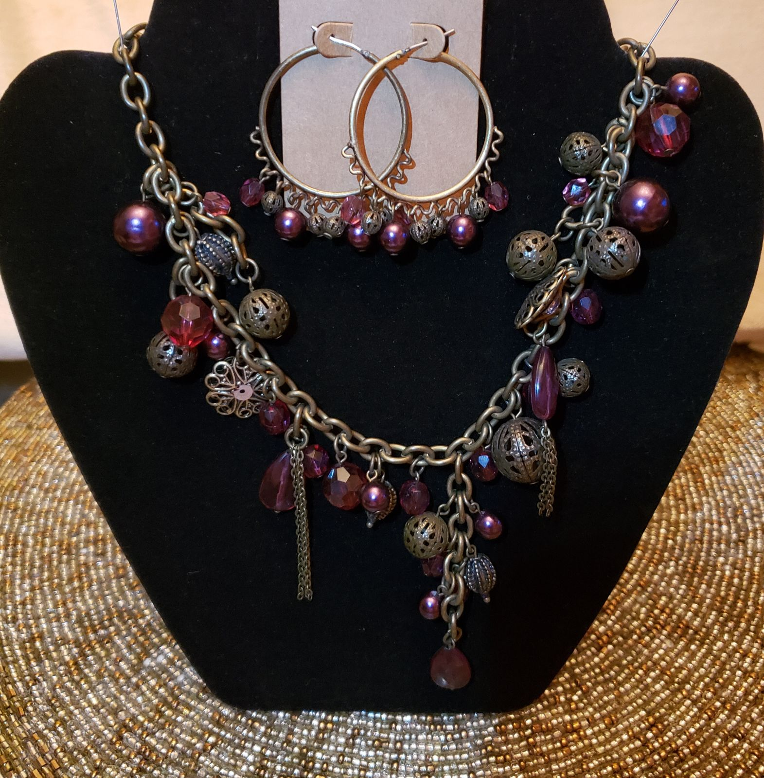 Avenue Necklace and Earrings Set