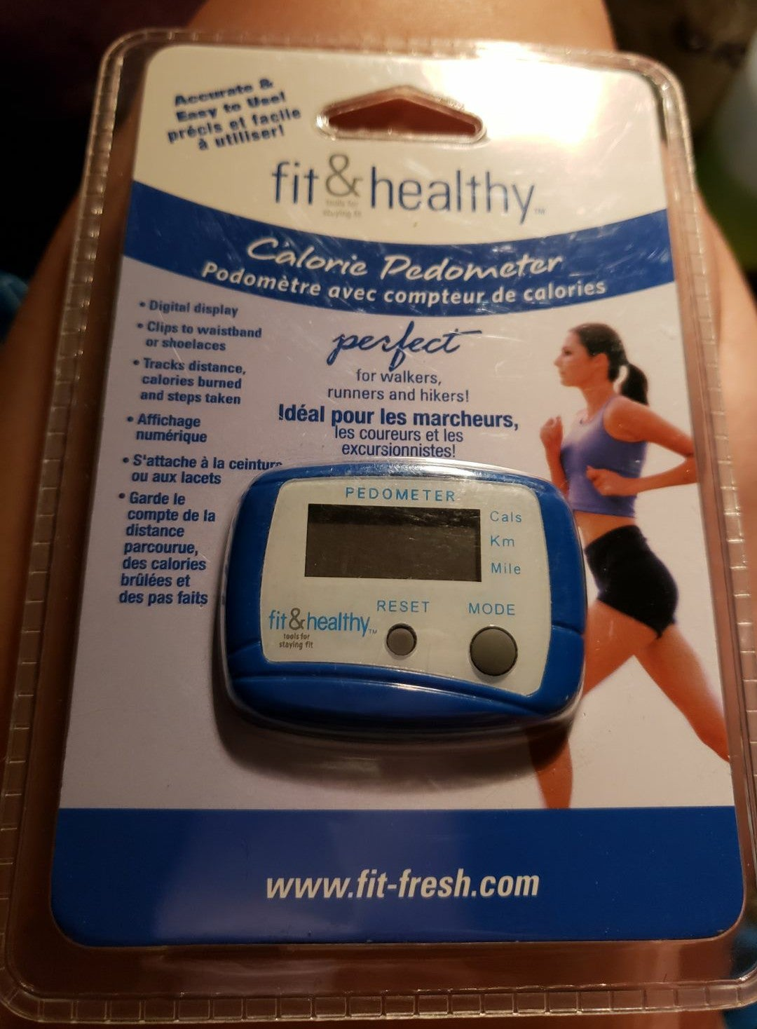 Fit and healthy calorie pedometer