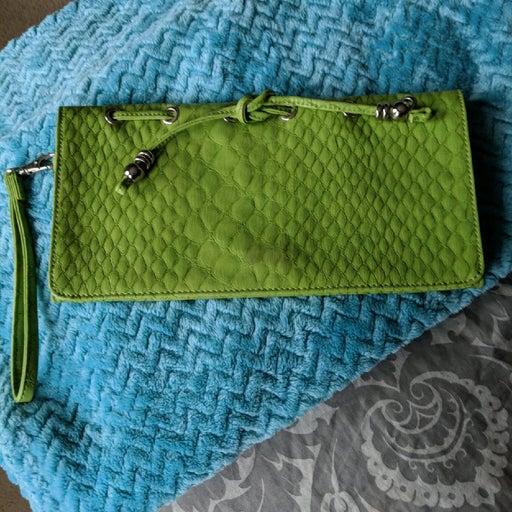 Green Jessica Simpson Clutch