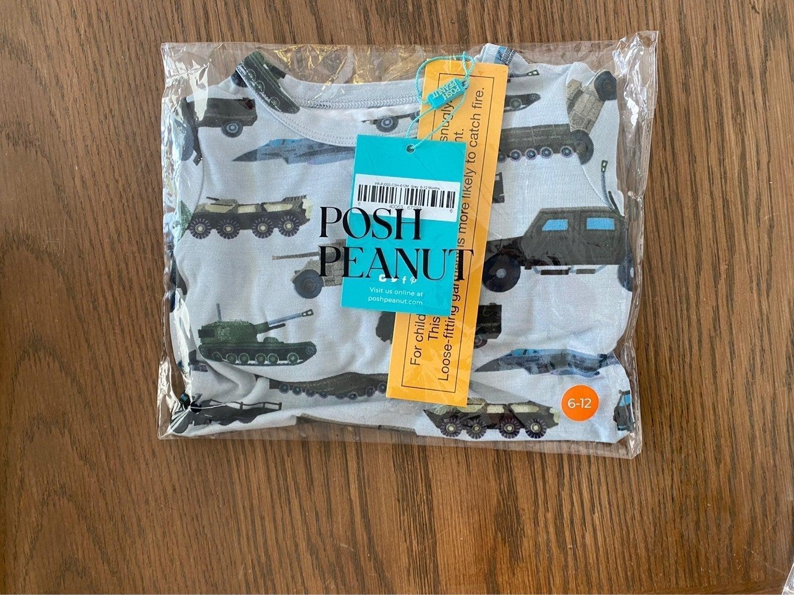 Posh Peanut Cash 6-12M Months Pajamas