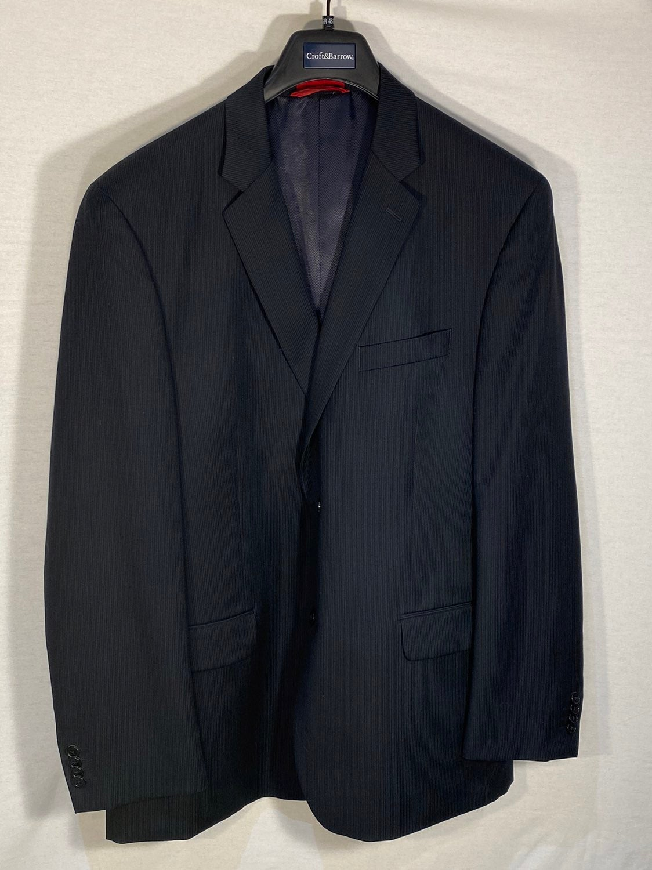 Alfani Sport Coat Blazer 46R navy stripe