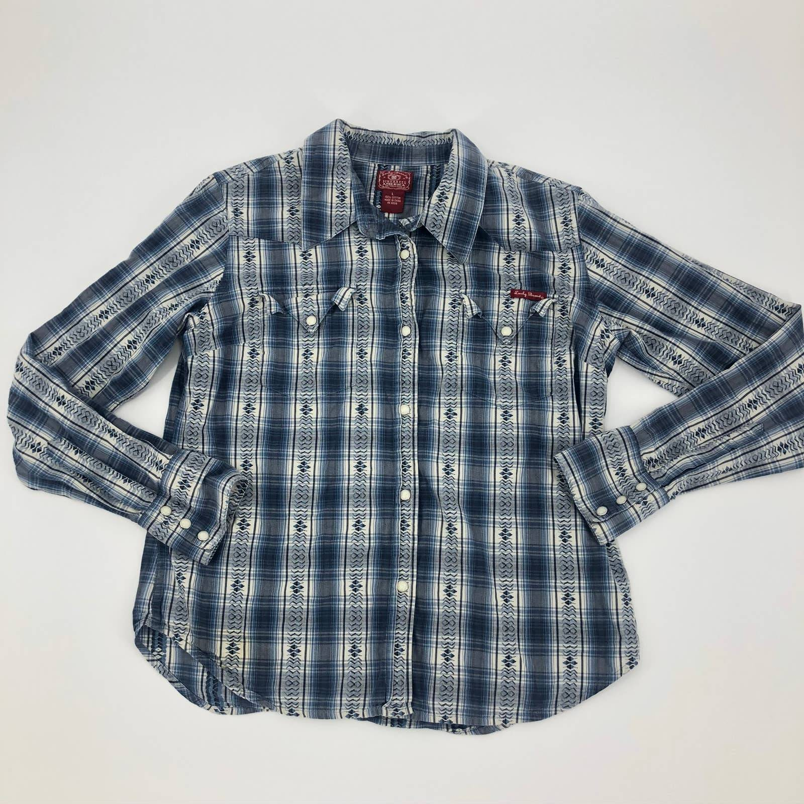 Lucky Brand Large Snap Western Shirt