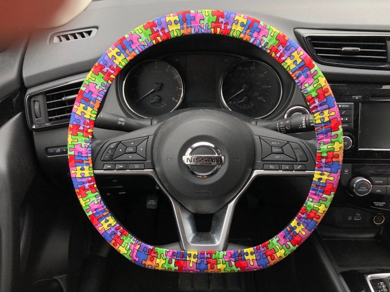 Puzzle Piece Steering Wheel Cover