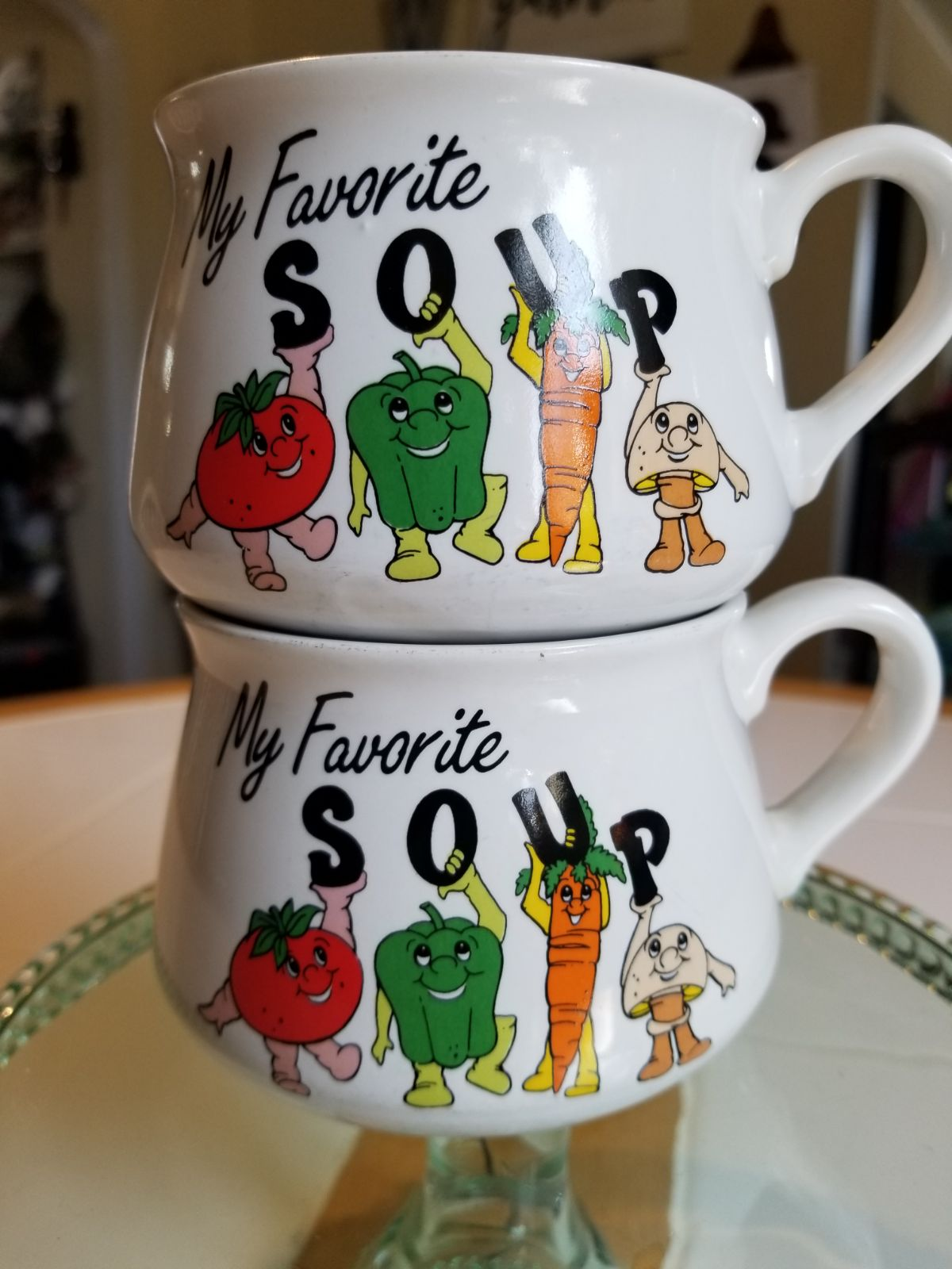 1980s giftco my favorite soup mugs