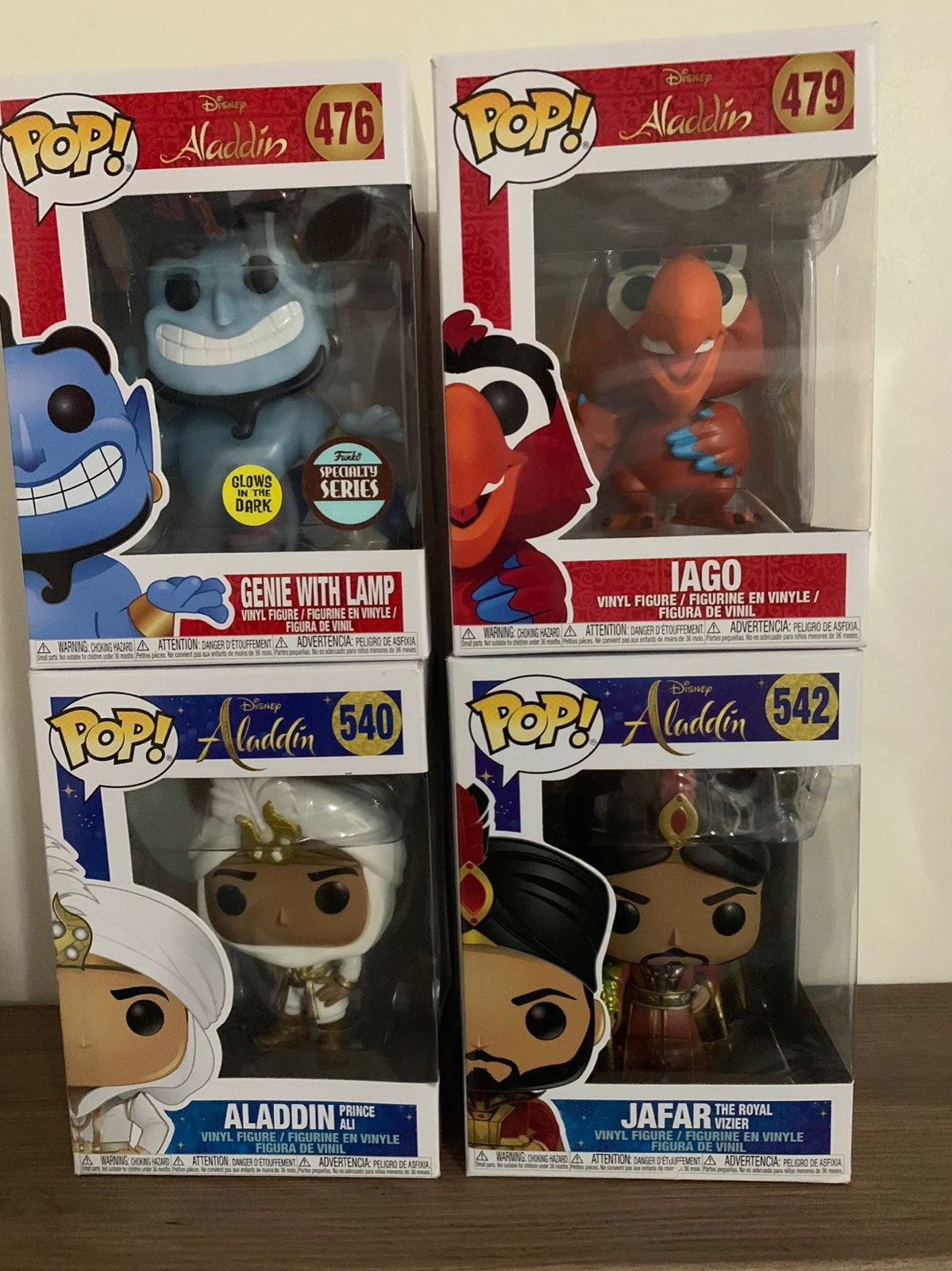 Disney Aladdin Funko Pop Lot