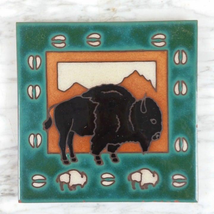 Buffalo Bison Western Trivet
