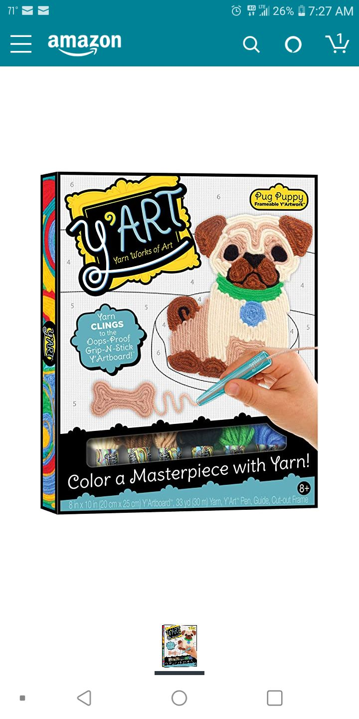 Y'Art Craft Kit - Pug Puppy