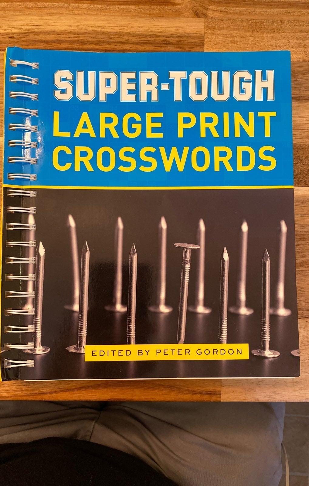 Super tough large print crosswords