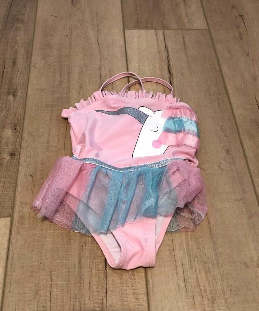 Unicorn tutu bathing suit 2T
