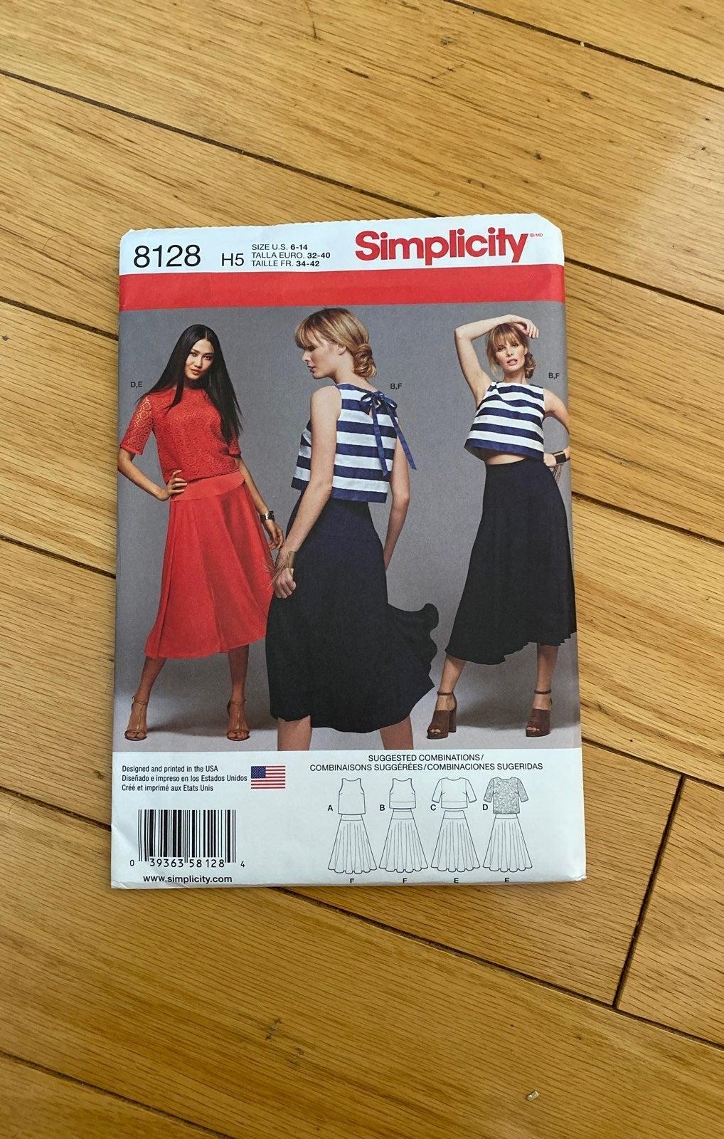 Simplicity 8128 pattern