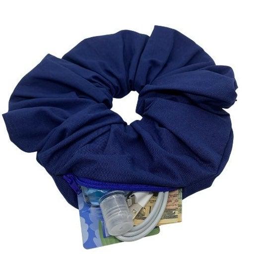 Oversized Zipper Pouch Scrunchie
