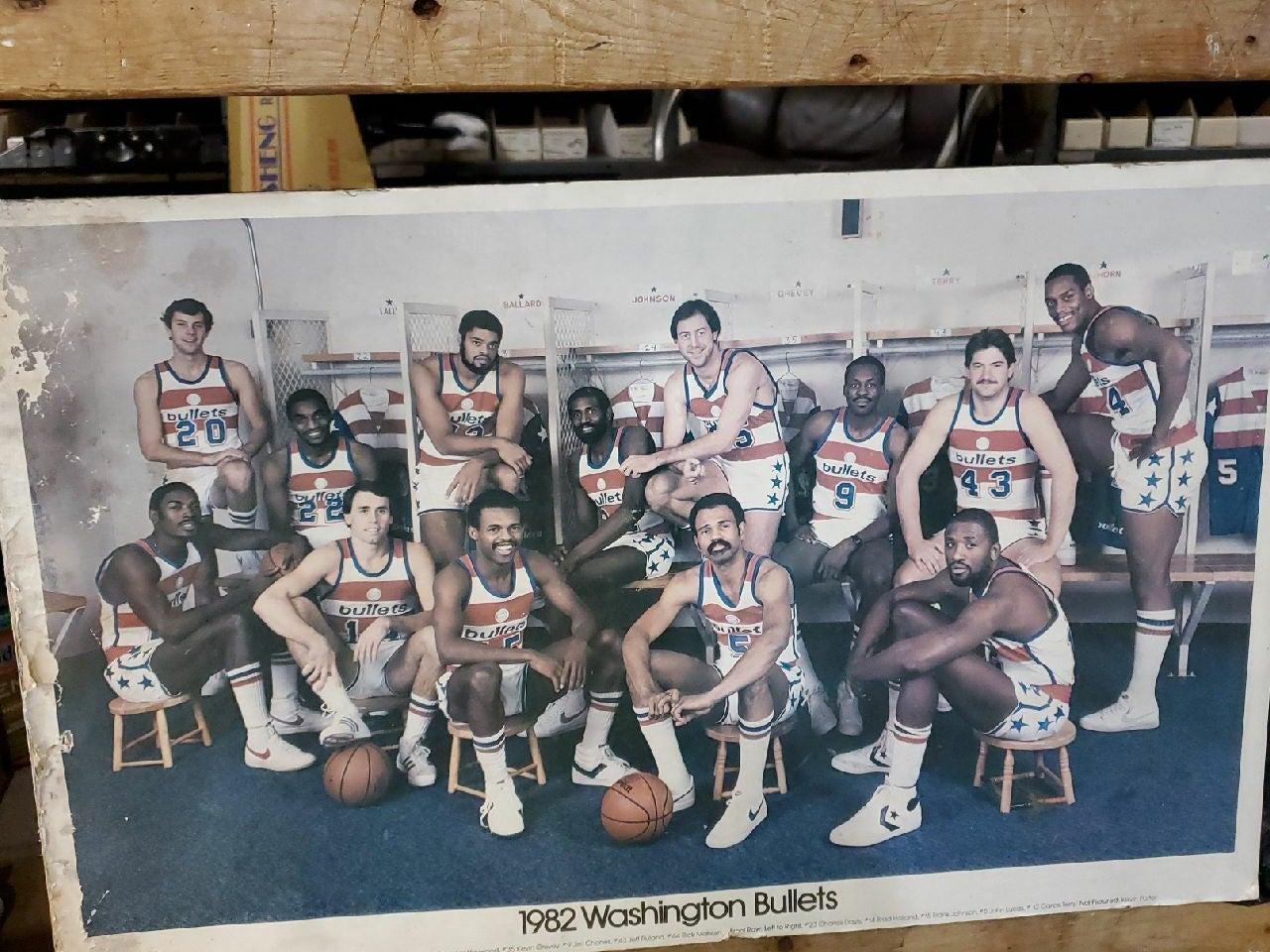 1982 washington bullets team picture