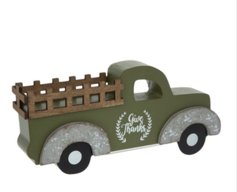 NWT Fall Give Thanks Truck Decor