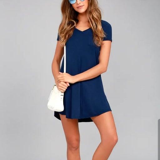 Lulus Better Together Blue Shirt Dress S