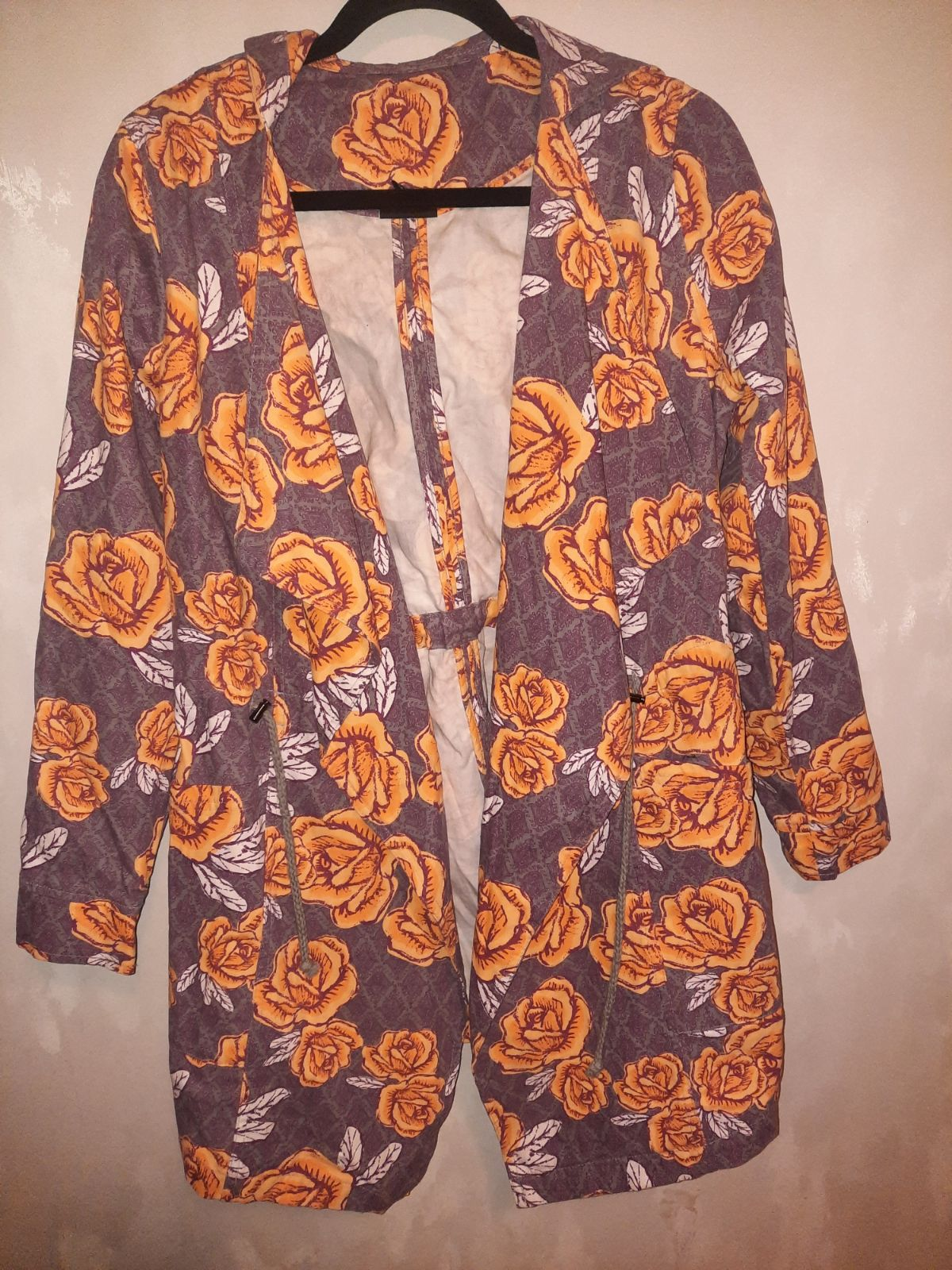 Floral LuLaRoe hooded tie jacket