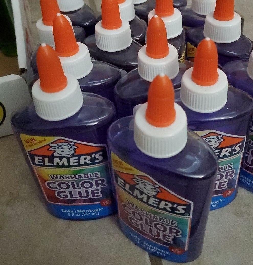 15 bottles of washable purple Elmer's gl
