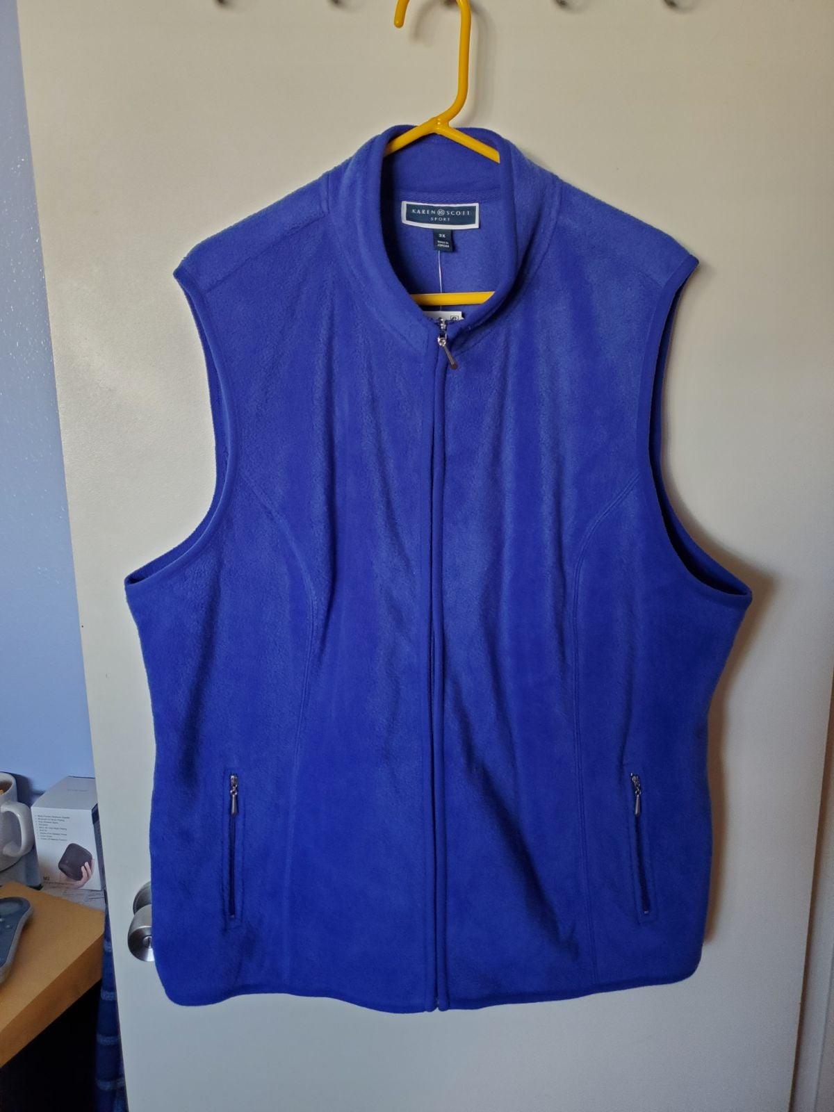 Karen Scott sport fleece vest 2x
