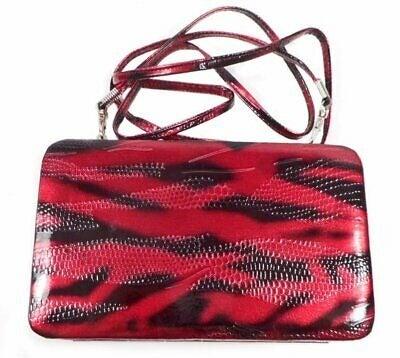 Red & Black Animal Print Wallet Purse Wr
