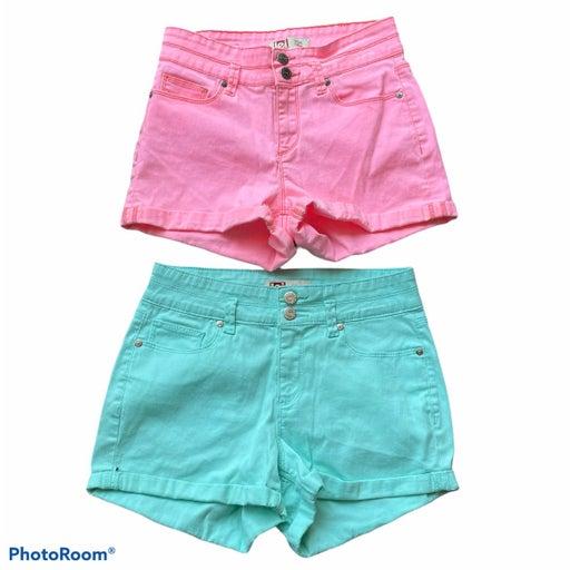 l.e.i. Tatum high rise shorts bundle