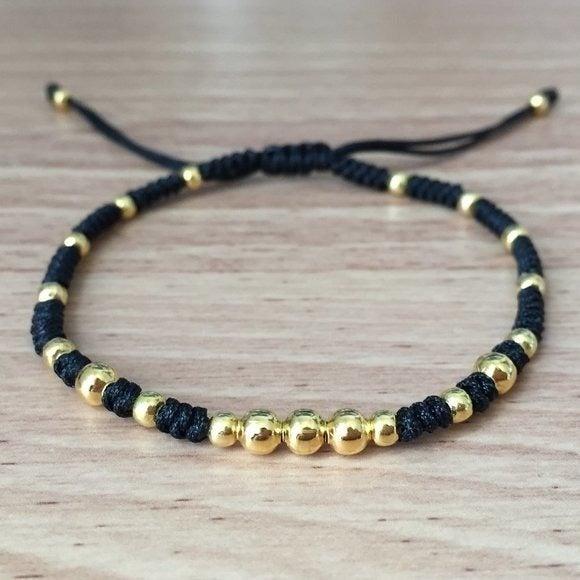 Delicate Black Gold Design Bracelet