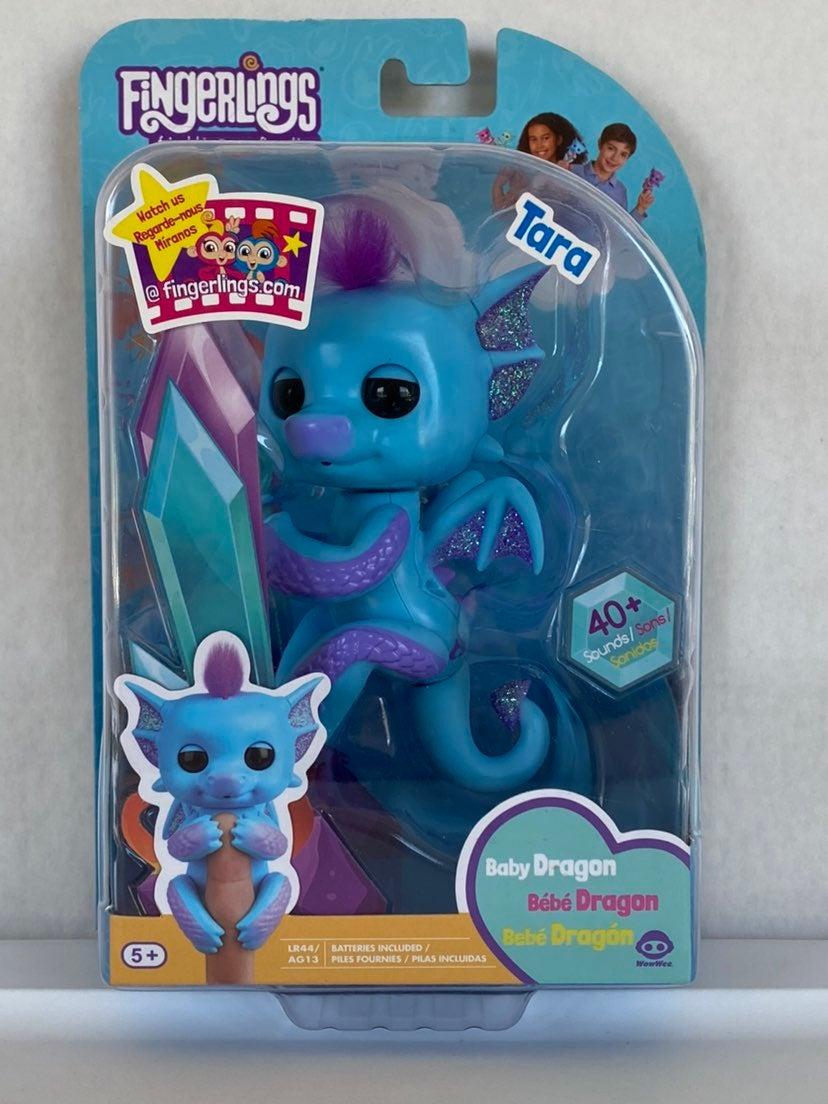 Fingerlings Baby Dragon Tara Blue Purple