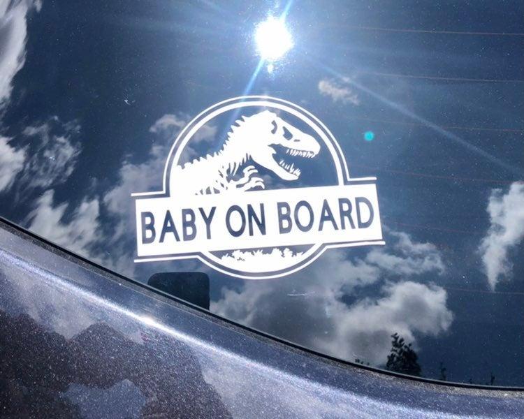 Baby On Board Jurassic Park Sticker