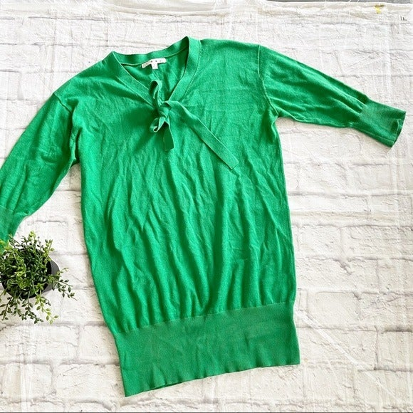 CAbi Lucky Green Pullover Sweater Small